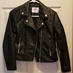Girls Justice Leather Jacket size 14/16
